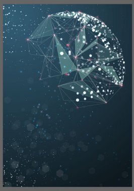 Abstract poster technological sphere