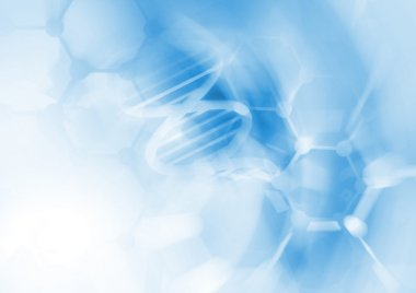 DNA molecule structure background.