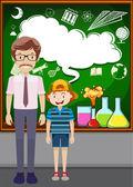 Učitel a student ve třídě