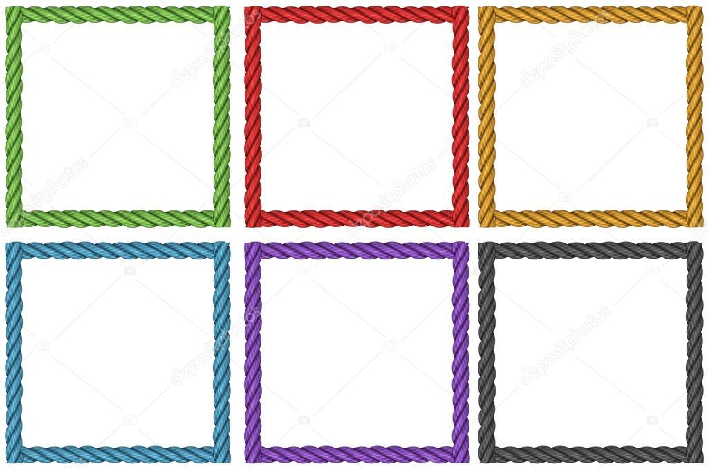 Frame design in six colors — Stock Vector © blueringmedia #106560378