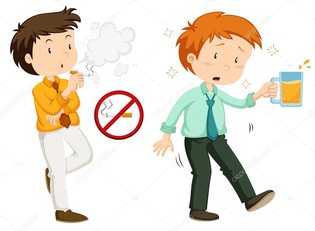 Pessoas Fumando E Bebendo álcool
