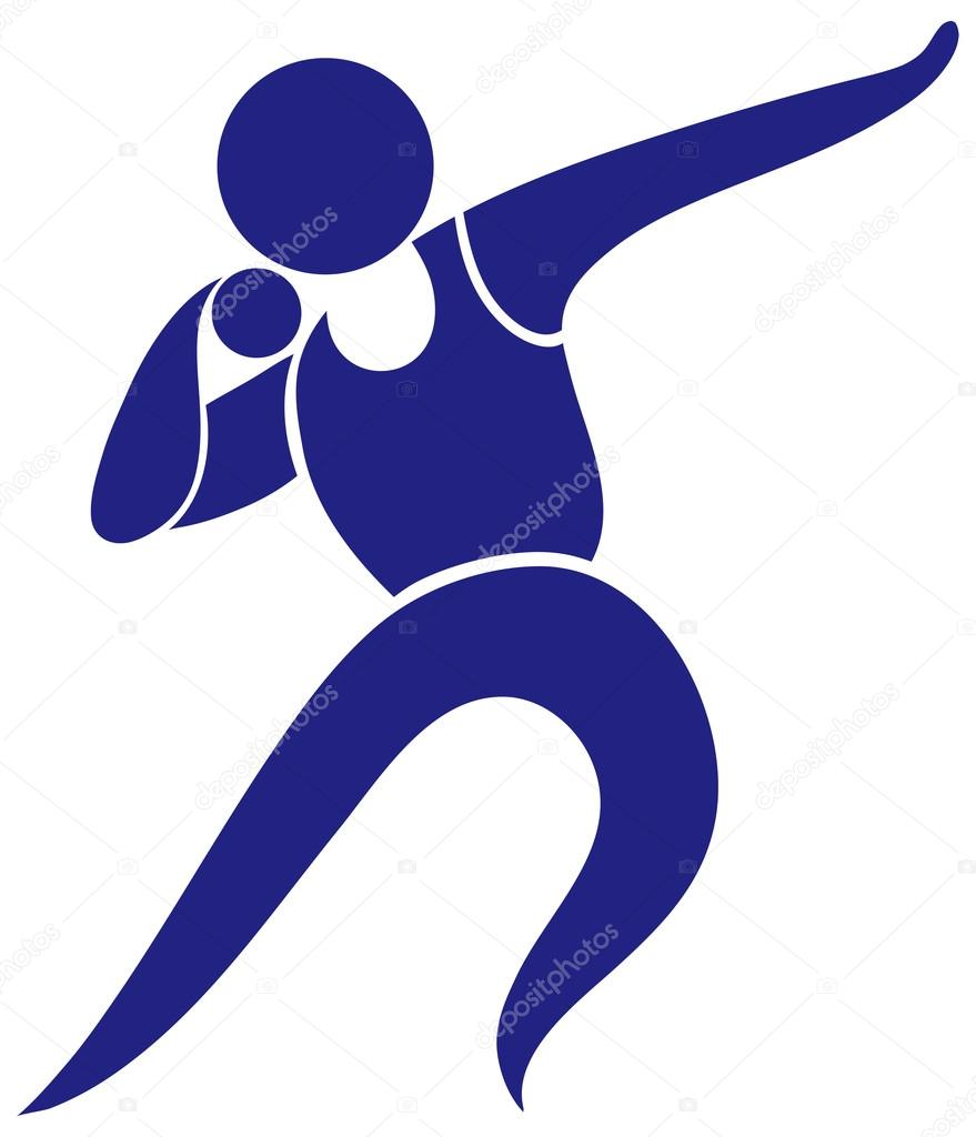dise u00f1o de icono de deporte de lanzamiento de bala Shot Put Thrower Silhouette shot put clipart free