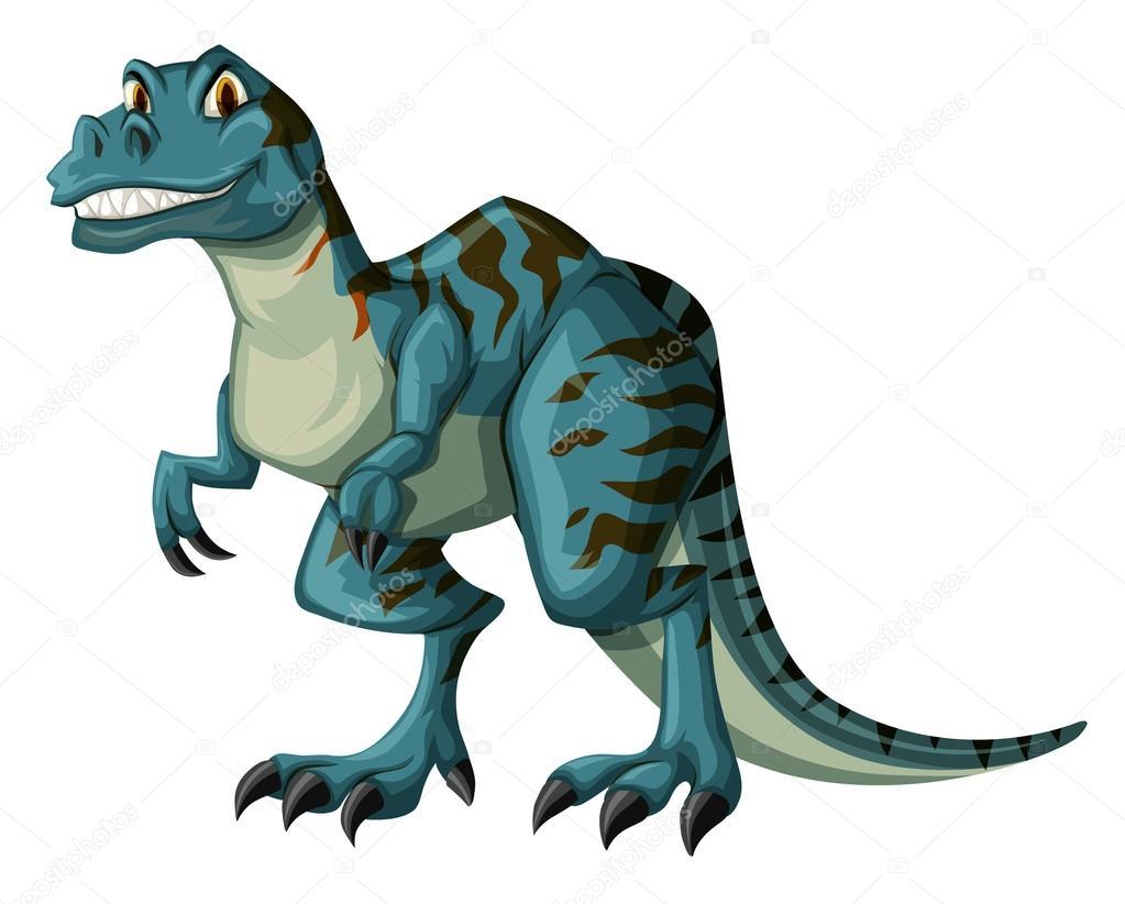 Dinosaurio en color azul — Vector de stock © blueringmedia #114235200