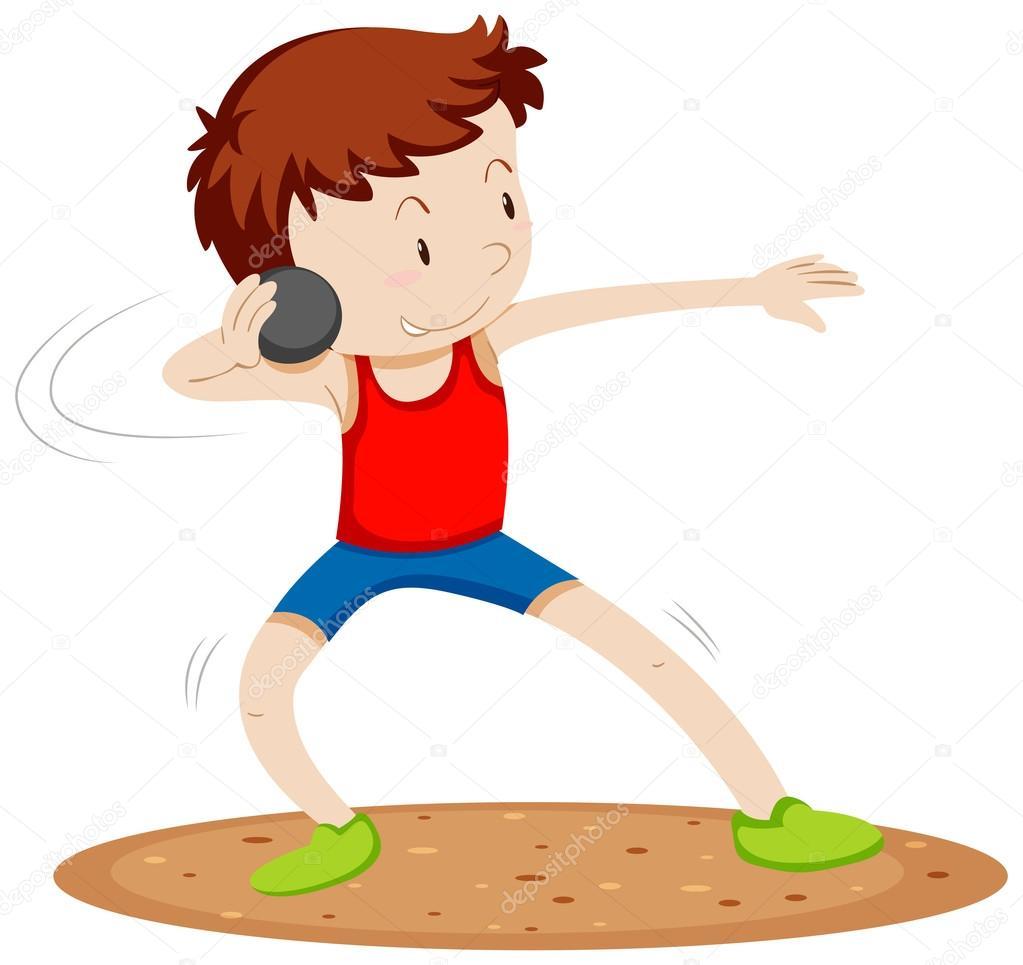 Dibujos: atletismo | Atleta hombre haciendo lanzamiento de ...