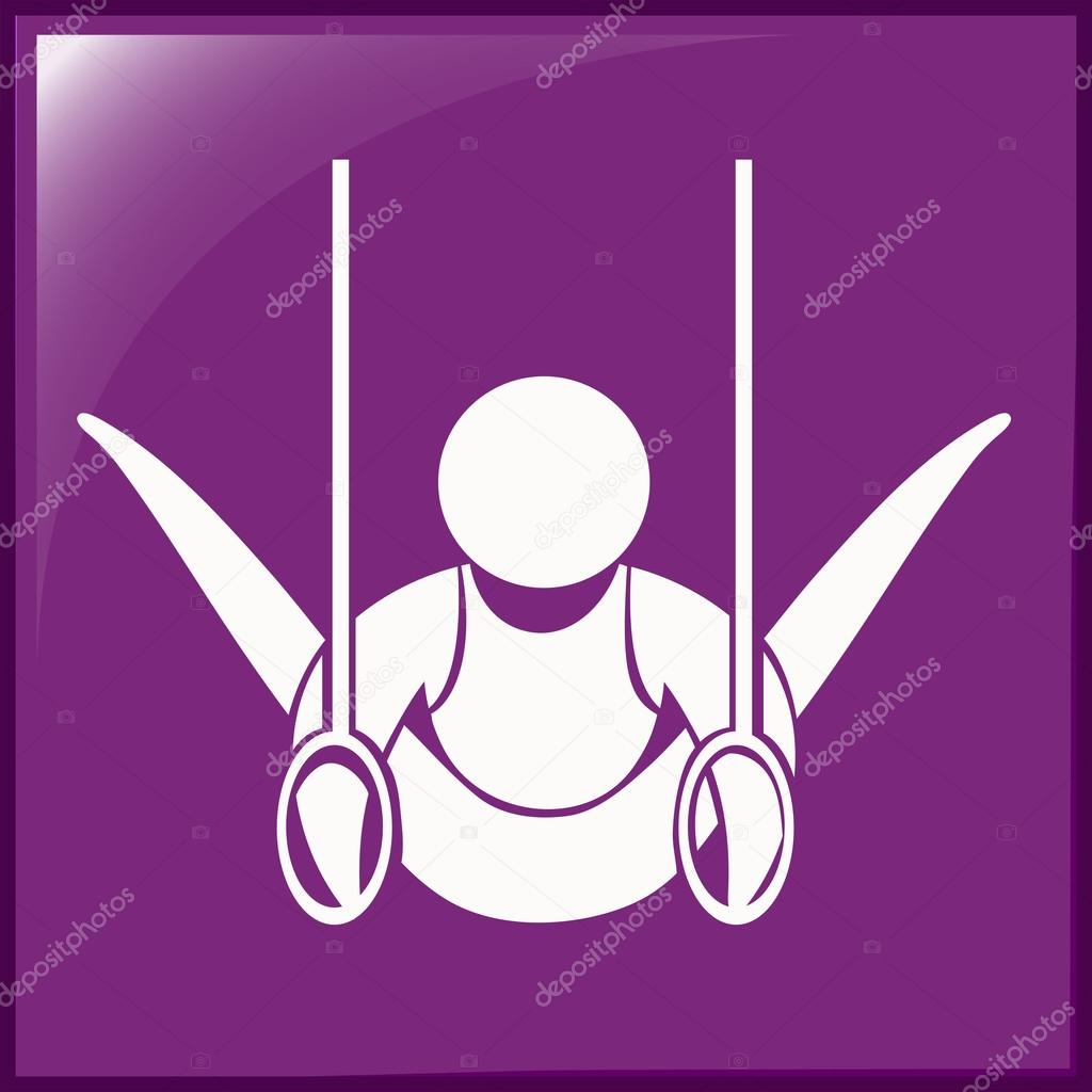Icon for gymnastics with rings