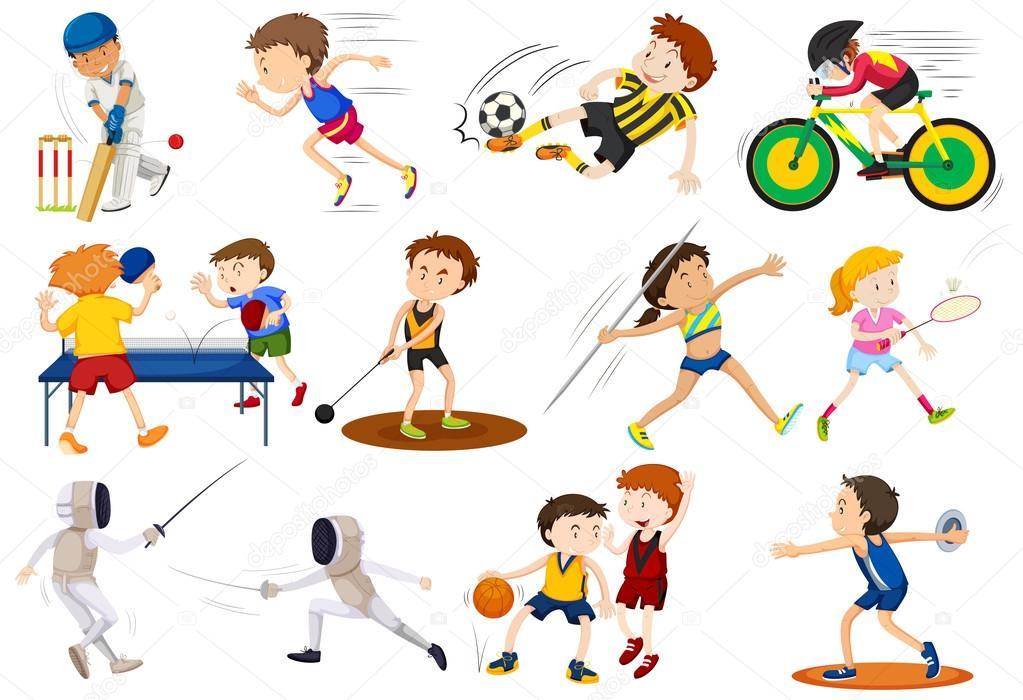 Deportes Diferentes Deportes: Personas Haciendo Diferentes Tipos De Deportes