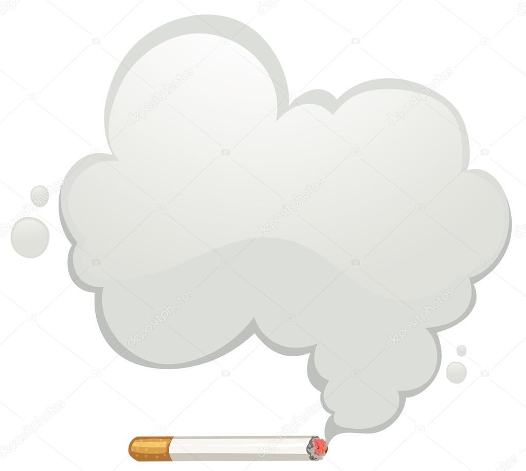 灰色の煙とタバコ ストックベクター Blueringmedia 119571330