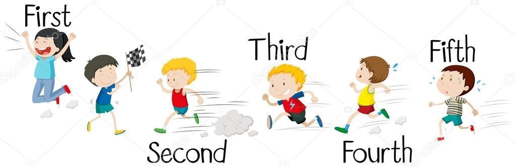 Kids Running In Race Stock Vector