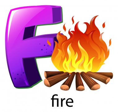 A letter F for fire