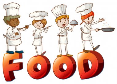 Food artwork with chefs