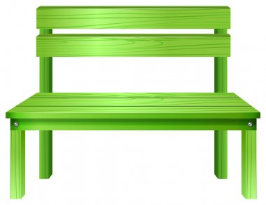 A green bench