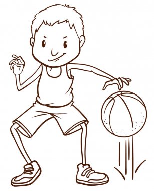 A simple sketch of a basketball player