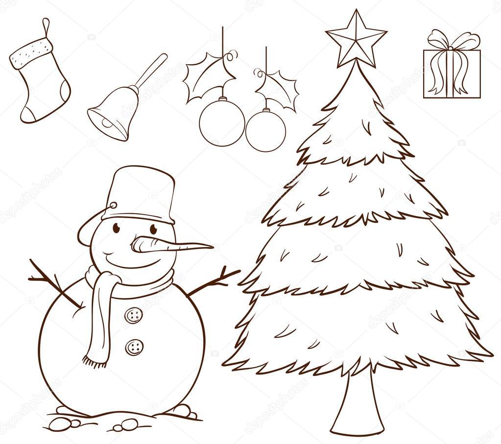 Prosty Rysunek Na Boże Narodzenie Grafika Wektorowa
