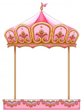 A carousel ride without a horse