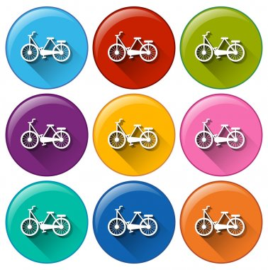 Buttons with bicycles