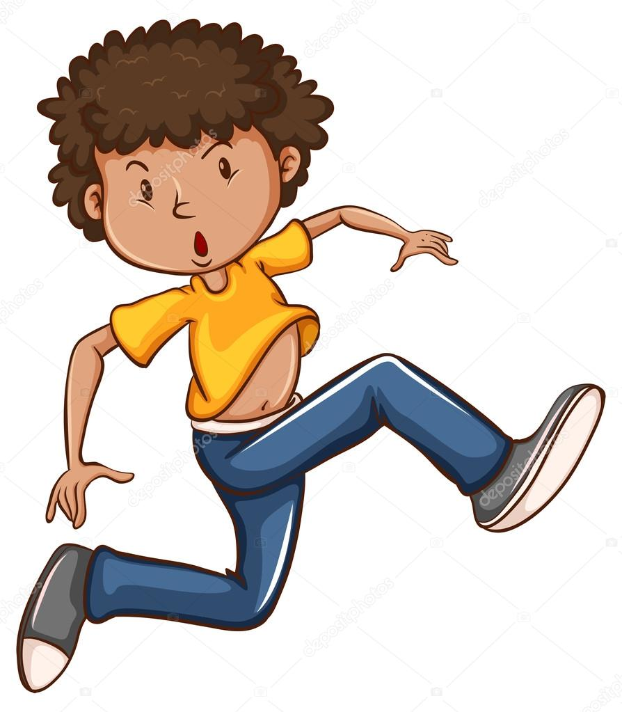 Un Bailando Simple Dibujo De Color Niño Hzx8H