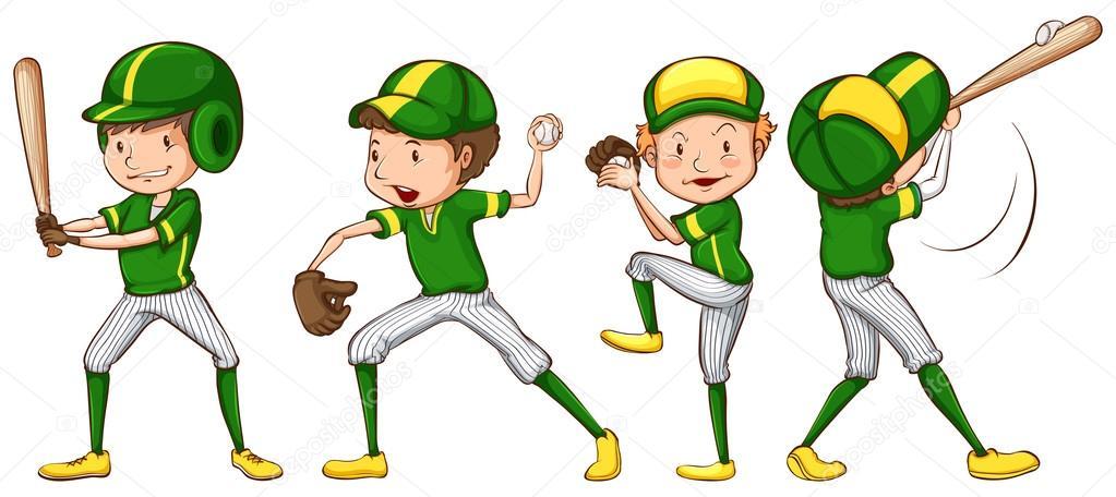 Uniformes de beisbol para colorear | Un dibujo coloreado de los ...