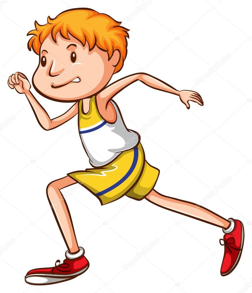 Resultado de imagen de dibujo de un niño corriendo