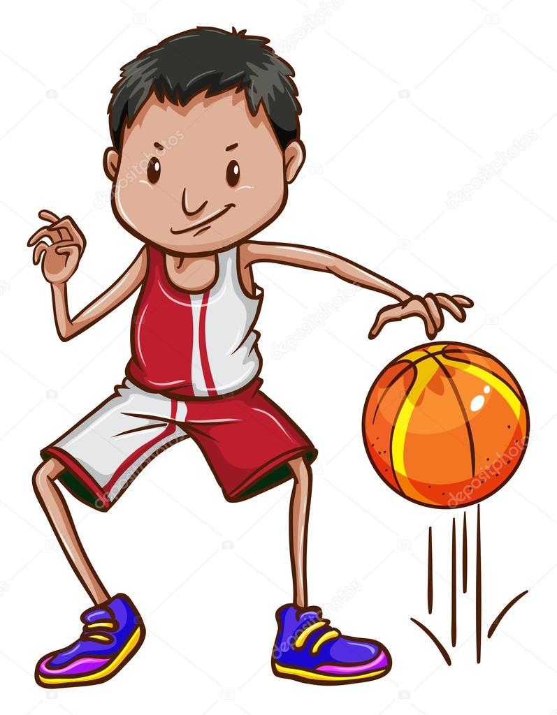 Eine energetische Basketballspieler — Stockvektor © blueringmedia ...