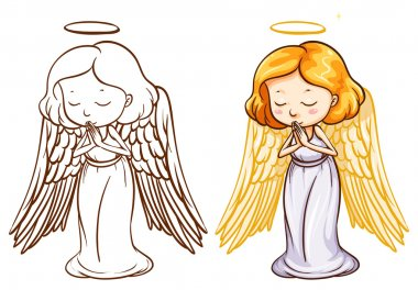 Two sketches of an angel