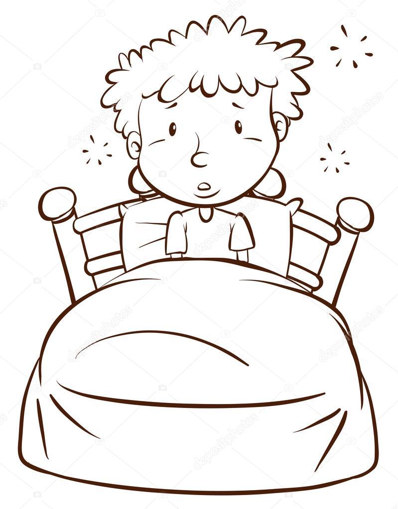Imágenes Dibujo Niño Despertando Un Dibujo Simple De Un Niño