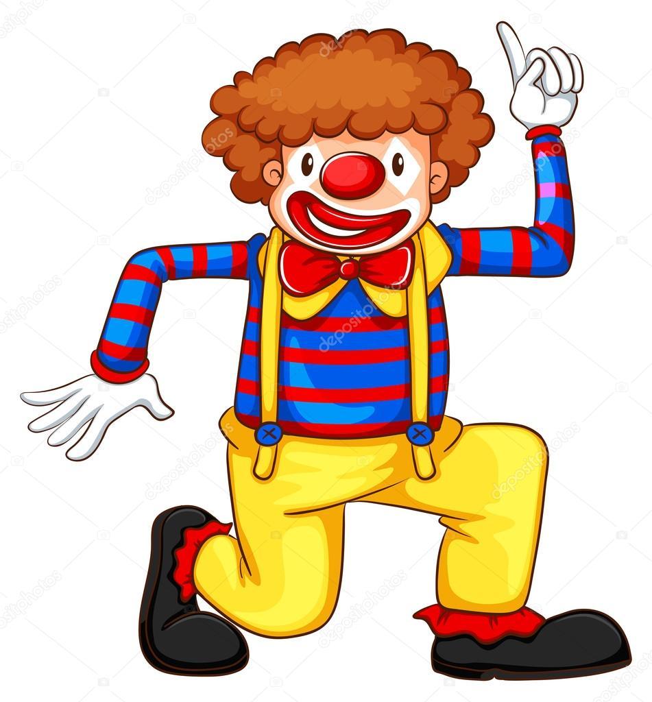 Dessin De Clown En Couleur une couleur de dessin d'un clown — image vectorielle blueringmedia