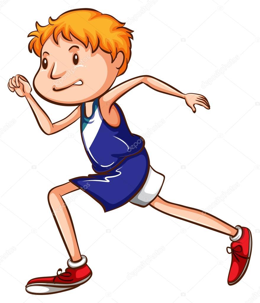 Une dessin d 39 un jeune coureur de couleur image vectorielle blueringmedia 56801413 - Coureur dessin ...
