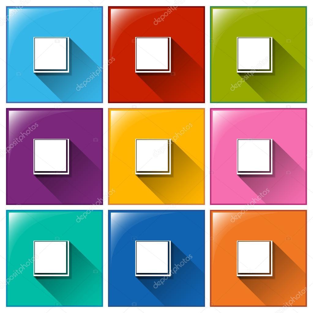 Symbole mit leere Quadrat Vorlagen — Stockvektor © blueringmedia ...