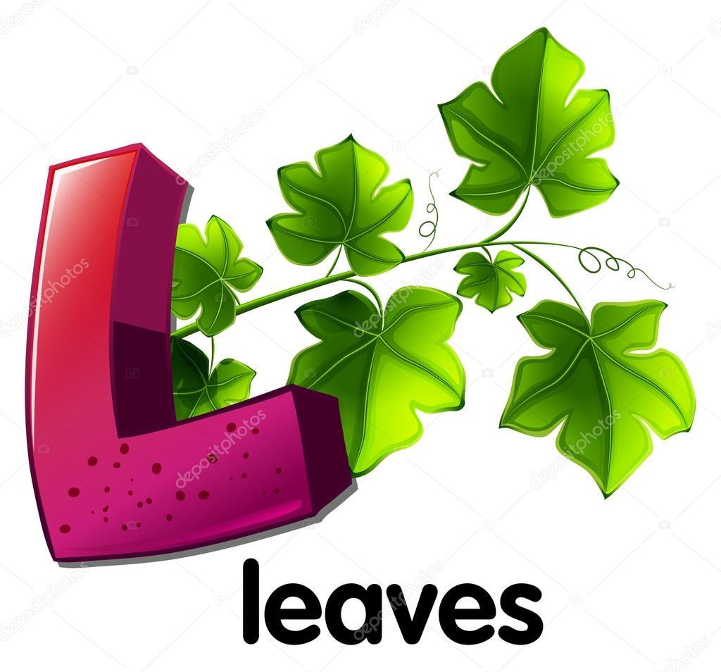A letter L for leaves