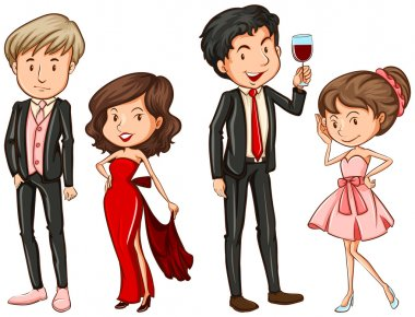 People in their formal attires
