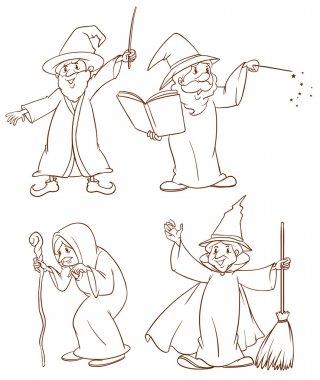 Four wizards