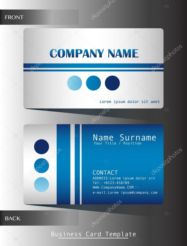 A Blue Colored Calling Card On Grey Background Vector By Blueringmedia