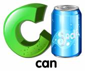 A letter C for can