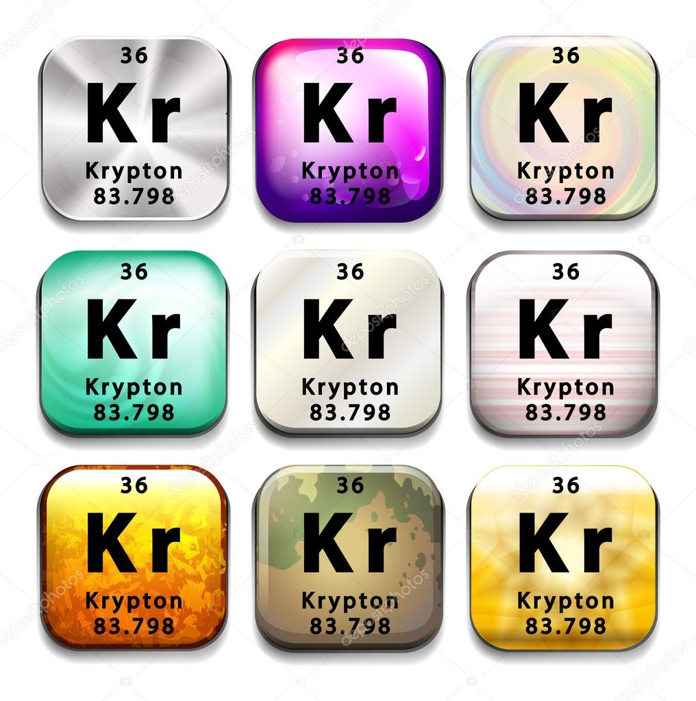 A periodic table showing krypton stock vector blueringmedia a periodic table showing krypton on a white background vector by blueringmedia urtaz Choice Image