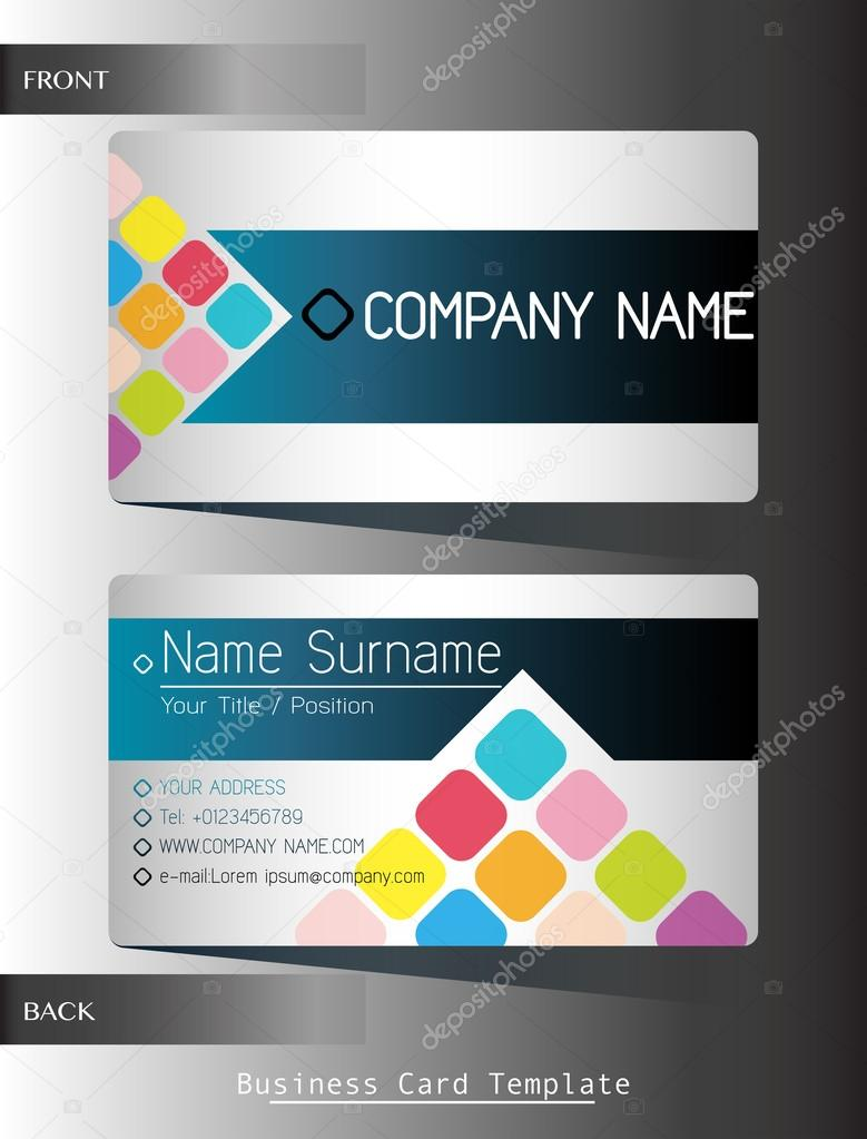 A front and back business card stock vector blueringmedia 62319685 a front and back business card template vector by blueringmedia accmission Image collections