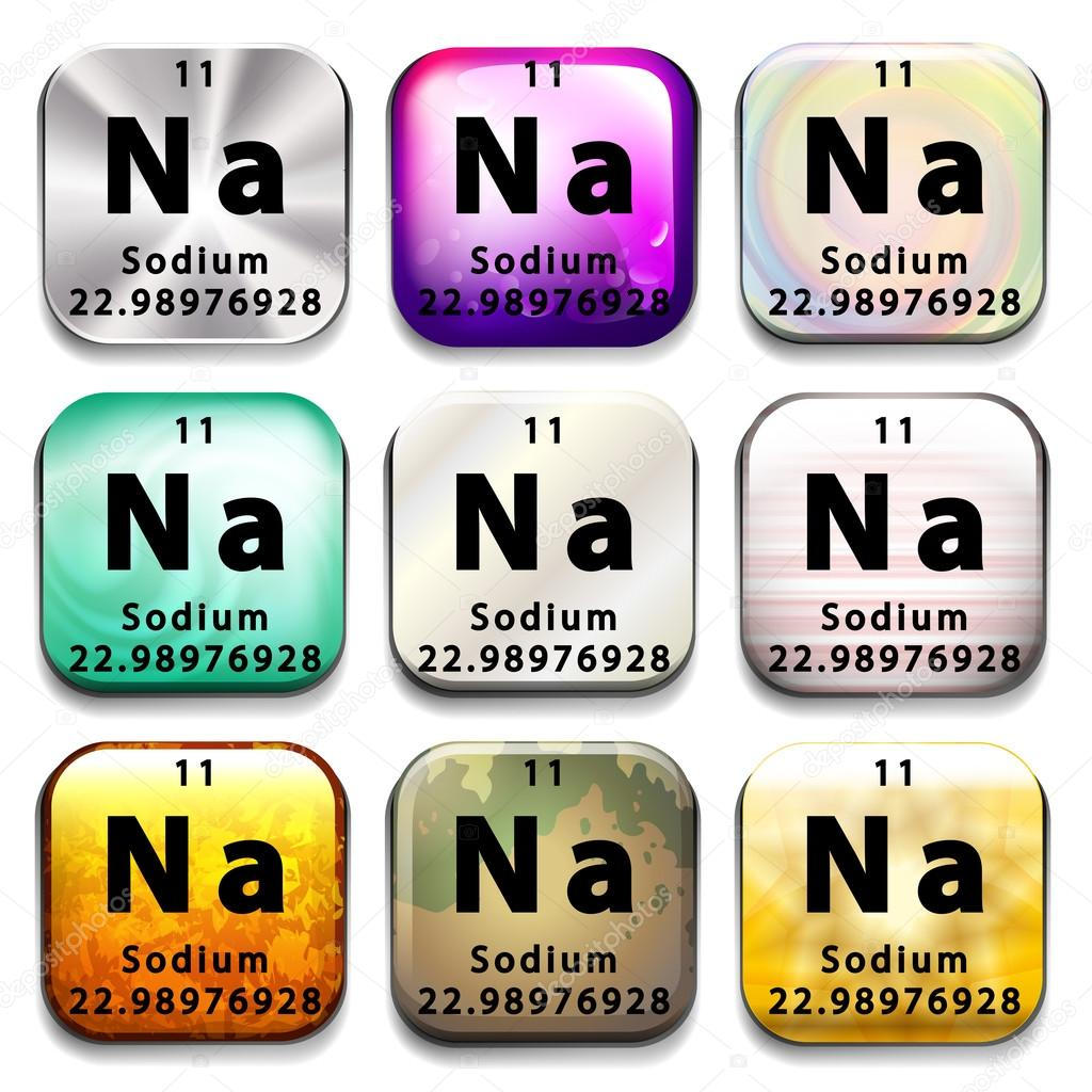 A periodic table showing sodium stock vector blueringmedia a periodic table showing sodium on a white background vector by blueringmedia gamestrikefo Images
