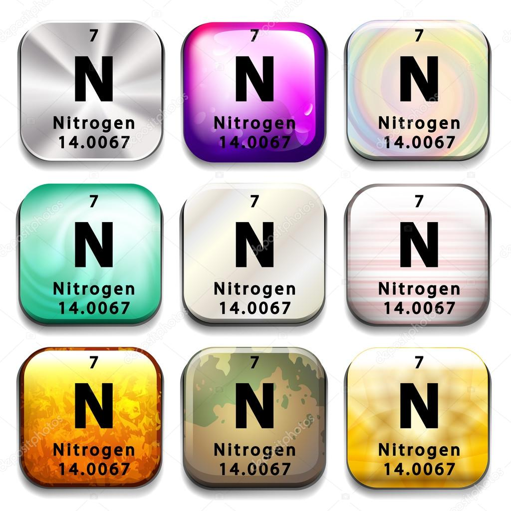 Un botn de la tabla peridica que el nitrgeno vector de stock un botn de la tabla peridica que el nitrgeno vector de stock urtaz Choice Image