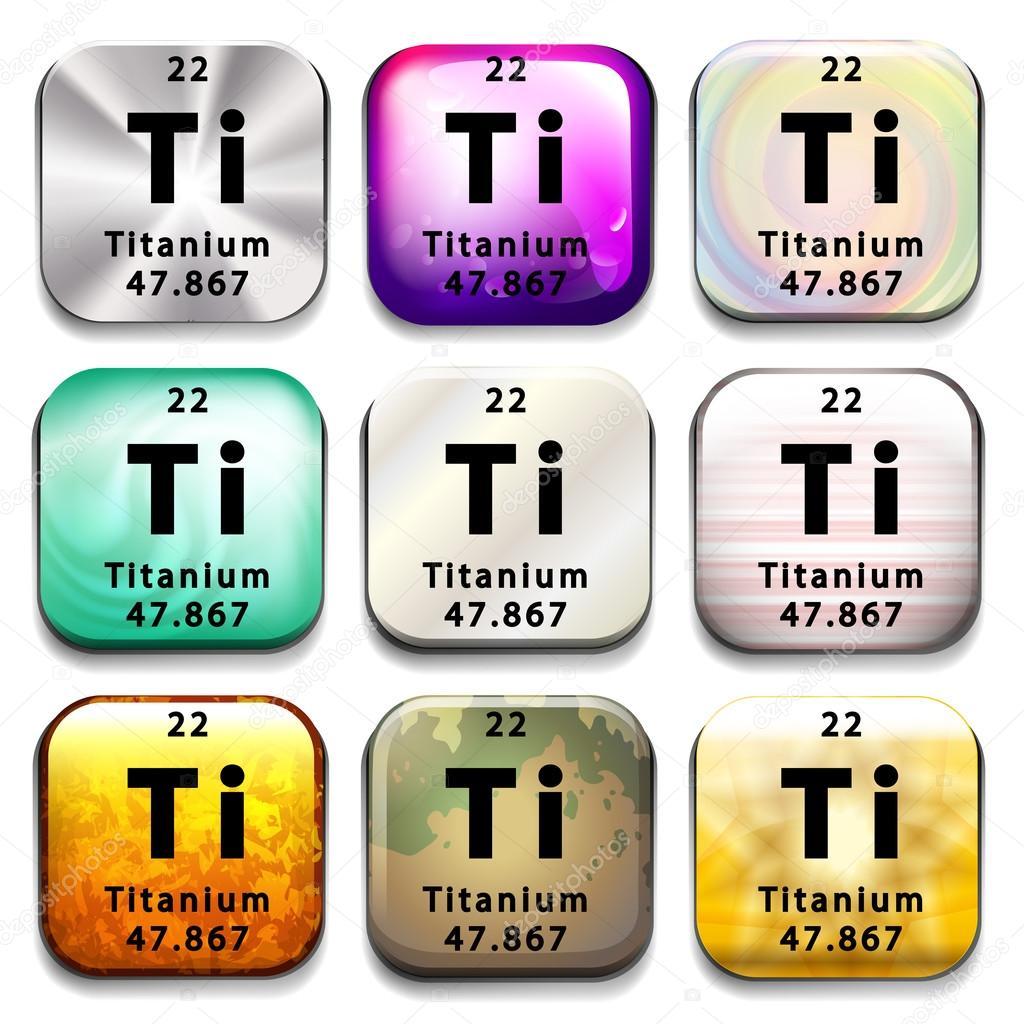 Un botn de la tabla peridica que el titanio vector de stock un botn de la tabla peridica que el titanio vector de stock urtaz Choice Image