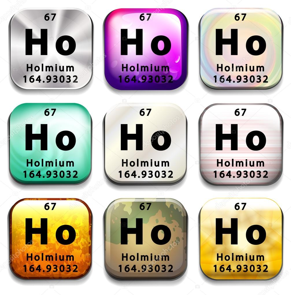 A periodic table button showing holmium stock vector a periodic table button showing holmium on a white background vector by blueringmedia gamestrikefo Images