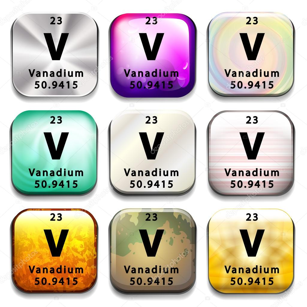 A periodic table button showing vanadium stock vector a periodic table button showing vanadium on a white background vector by blueringmedia gamestrikefo Images