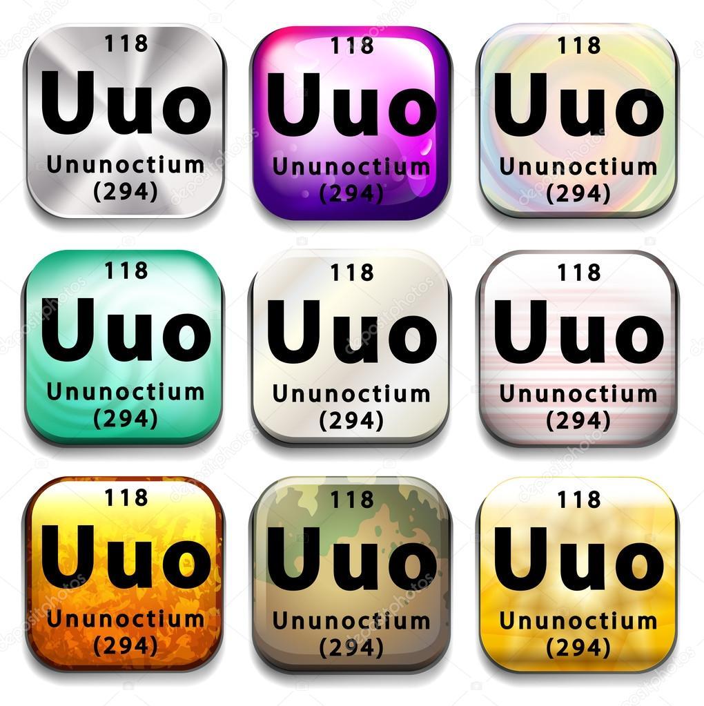 ウンウンオクチウムの要素を表示...