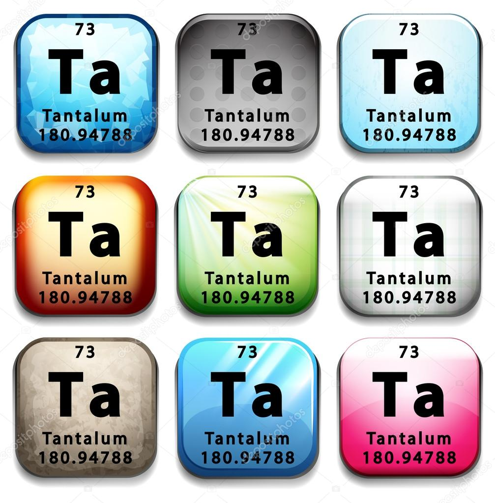The Chemical Element Tantalum Stock Vector Blueringmedia 64361905