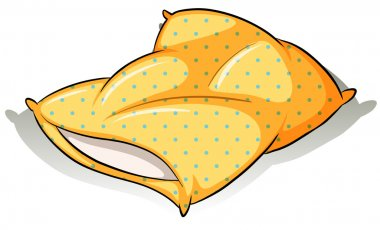 A yellow pillow
