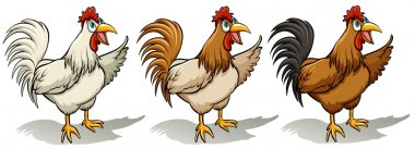 Group of roosters