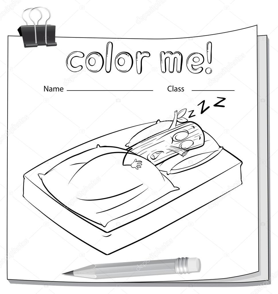 Ein Arbeitsblatt mit einem Protokoll schlafen — Stockvektor ...