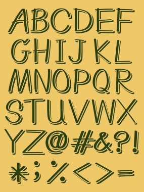 Capital letters of the alphabet