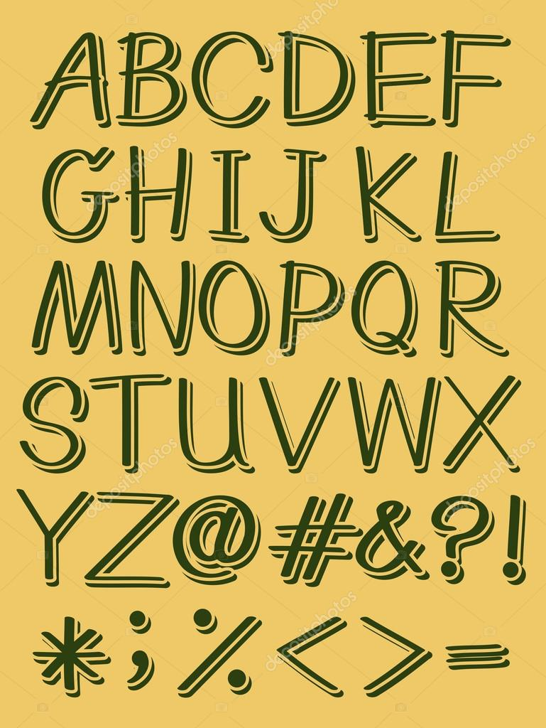 Lоvеlу Gold Alphabet 3d Letters Stock graphy Image