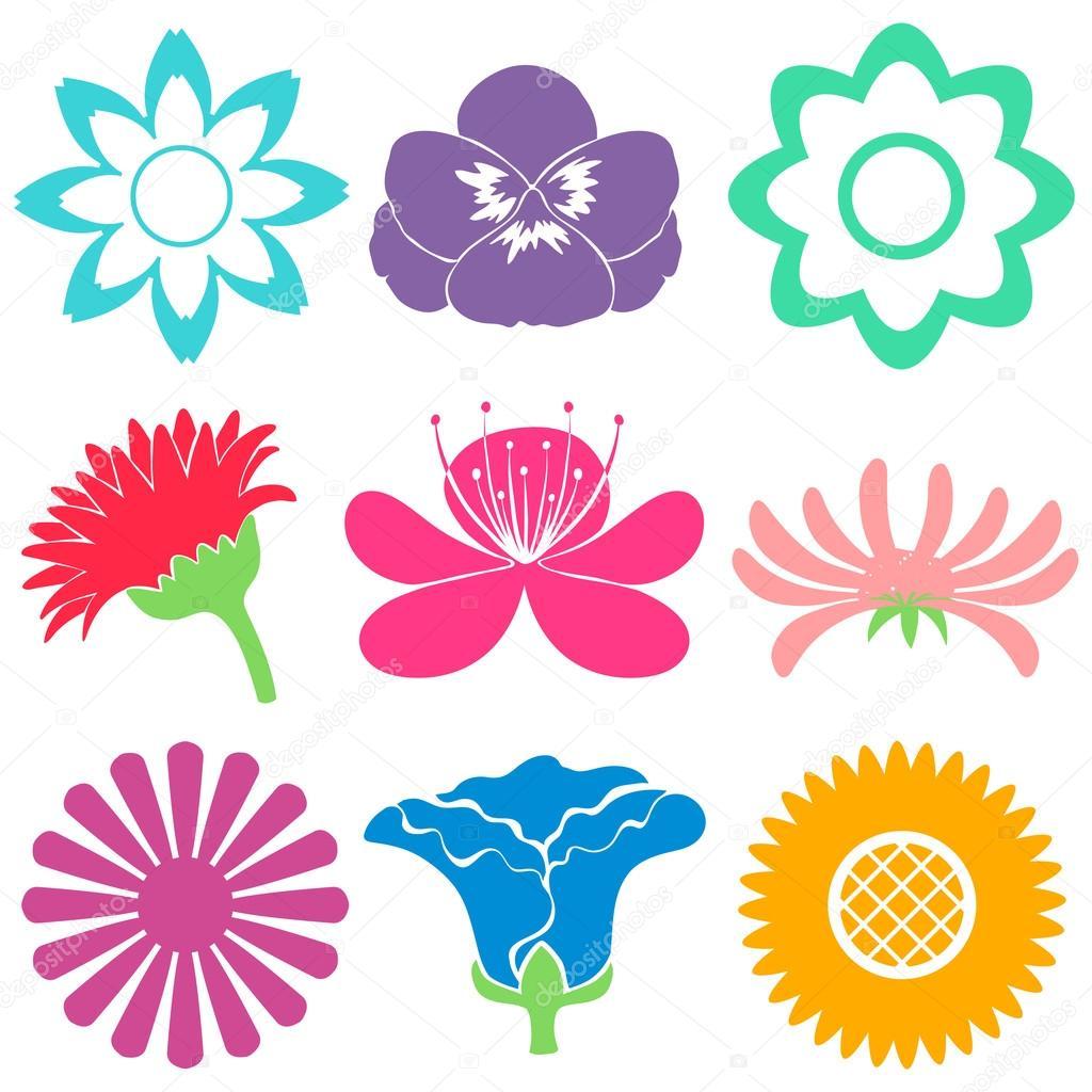Bunte Blumen Vorlagen Stockvektor Blueringmedia 67675431
