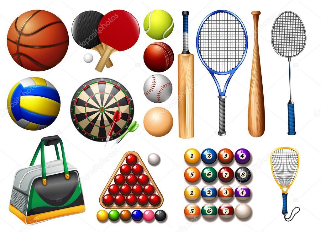 sportovní vybavení a míčky — Stock Vektor © blueringmedia  78119872 58e26ece477