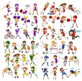 A gyerekek különböző sportolás
